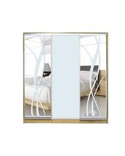 Матролюкс Шкаф купе на 3 двери + фасады из матовых зеркал + рисунки пескоструй на 3 двери