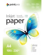 PrintPro глянцевая 230g/m2, A4, 100л (PGE230100A4)