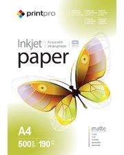 PrintPro матовая 190g/m2, A4, 500л (PME190500A4)