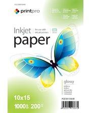 PrintPro глянцевая 200g/m2, 10x15, 1000л (PGE20010004R)