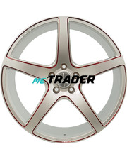 Monaco TR4 R20 W8.5 PCD5x112 ET45 DIA66.5 Silver / red anodised
