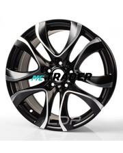Monaco Beau Rivage R19 W8.5 PCD5x108 ET42 DIA73.1 Dull Black / Polish