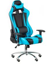 """Техностиль-ПРО Геймерское кресло """"ExtremeRace black/blue"""" 50х0х135 металл хромированный"""