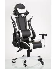 "Техностиль-ПРО Геймерское кресло ""ExtremeRace black/white"" 51х0х135 усиленный пластик"