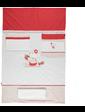 BEBETTO Детский комплект постельного белья Cilek 4 предмета white/pink (UAMAG-33082)