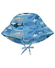 747161-6303-51 Солнцезащитная панамка I Play -Light Blue Whale League-0/6мес
