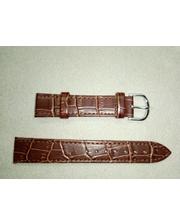P80219-204011 Ремешок Китай прес.кожа коричневый матовый 18 мм