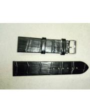 Charm Ремешок натуральная кожа,черный матовый 22 мм