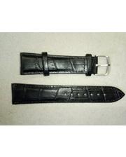 Русское время Ремешок натуральная кожа,черный матовый 22 мм