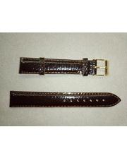 P80219-203951 Ремешок Китай прес.кожа коричневый лаковый 18 мм
