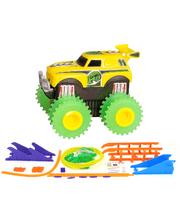 JLT-AS331Y Машинка на бат. Trix Trux набор с трассой (желтый)