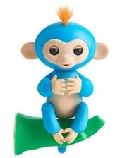 SSE-HM-Blue Ручная обезьянка на бат. Happy Monkey интерактивная (синий)