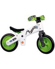BIC-75 Велосипед (беговел) Bellelli B-Bip обучающий 2-5лет, пластмассовый, белый с зелёными колёсами