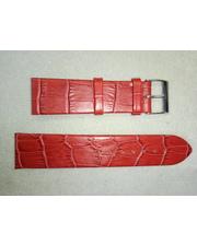 Charm Ремешок натуральная кожа, красный матовый 22 мм