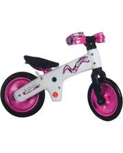 SKD-90-81 Велосипед (беговел) Bellelli B-Bip обучающий 2-5лет, пластмассовый, белый с розовыми колёсами