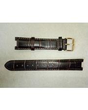 Русское время Ремешок натуральная кожа Т,темно-коричневый 18 мм