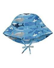 747161-6303-53 Солнцезащитная панамка I Play -Light Blue Whale League-2-4г