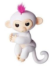 SSE-HM-White Ручная обезьянка на бат. Happy Monkey интерактивная (белый)