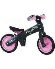 BIC-05 Велосипед (беговел) Bellelli B-Bip обучающий 2-5лет, пластмассовый, чёрный с розовыми колёсами