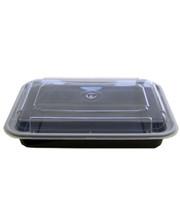 Pro Master Емкость полипропиленовая прямоугольная с крышкой для СВЧ черная, 710мл 50шт/уп