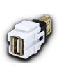 Keystone модуль USB (гнездо-гнездо), протокол 2.0