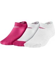 Nike young no show cushion 3 pairs white/pink