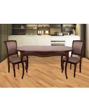Модуль Люкс Комплект стол Мадрид и стулья Марсель