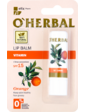 O'Herbal Витаминный бальзам для губ с апельсиновым маслом SPF15 4.8 г