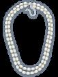 Lambre Двойное ожерелье из белого жемчуга