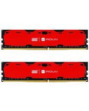 GoodRam 16 GB (2x8GB) DDR4 2400 MHz Iridium Red (IR-R2400D464L15S/16GDC)