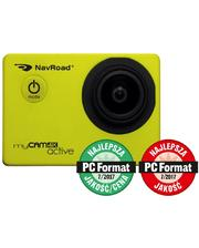 NavRoad Автомобильный видеорегистратор 5901597742593 Sports camera/Car DVR myCAM 4K Active (4K, Wi-Fi, sensor Sony) Yellow