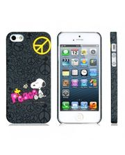 Завод РАСПРОДАЖА! Cartoon Snoopy PC Plastic Matte Protective Case for iPhone 5 (Black)
