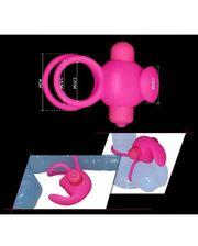 LoveToy Насадка для пениса с двойным вибратором мягкий, эластичный силикон