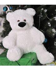 Мягкая игрушка Фабрика мишка Бублик 55 см Белый