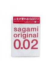 Завод Полиуретановые презервативы Sagami Original 0.02мм, 3 шт