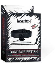 Завод Bondage Fetish Black Matt Collar With Leash