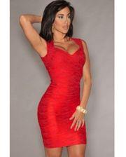 Завод Бандажные красное платья