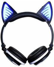 Bluetooth наушники LINX BL108A с кошачьими ушками LED Черные
