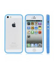 Завод РАСПРОДАЖА! Glossy Injection Painting Design PC Up & Down Protective Frame for iPhone 5 (Blue)