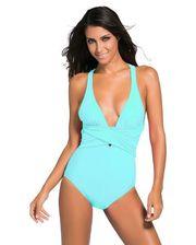 Завод - Mint Blue Self Tie One Piece Swimsuit