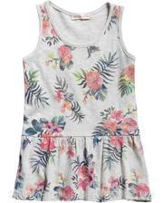 Платье в цветочный принт, Fox, светло-серое (62-68) (357650/2499)