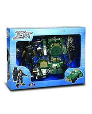 X-BOT Игровой набор - РОБОТ-ТРАНСФОРМЕР (15 см), ТАНК (зеленый), ВОИН (82010R)