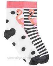 Duna Набор из 2-х пар носков с фламинго, Duna, белый, 18-20 (27-30) (1009)
