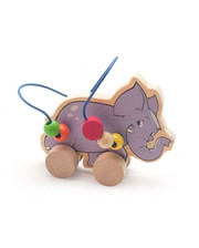МДИ Лабиринт-каталка Слон, Мир деревянных игрушек (Д368)