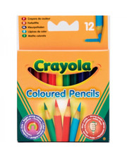Crayola 12 коротких цветных карандашей (4112)