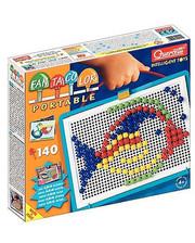 Quercetti Набор для занятий мозаикой (10 мм фишки (140 шт.) + доска 22х16, переносной) (0922-Q)