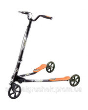 YAYA Самокат трехколесный Speeder большой, черно-оранжевый, Ya-Ya (LS-302(L)_BO)