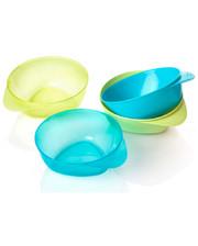 Tommee Tippee Тарелки глубокие, набор из 4 штук, голубые и зеленые, Tommee Tippee., голубые и зеленые (44671471-1)