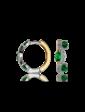 Мартина Серьги с бриллиантом и изумрудом 214641