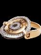 Агат Золотое кольцо в стиле BVLGARI 025251